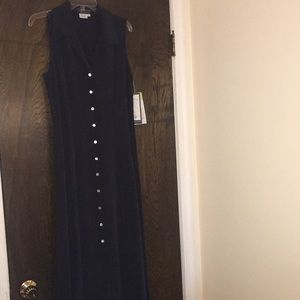 NWT Cynthia Howie Navy Dress 10